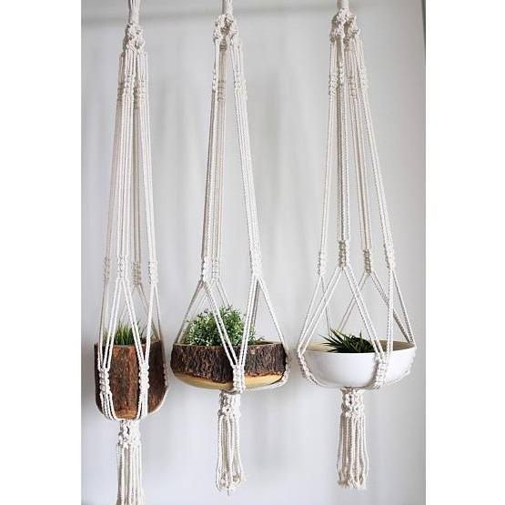 Macrame + Modern Plant Hanger - Culture+Bloom