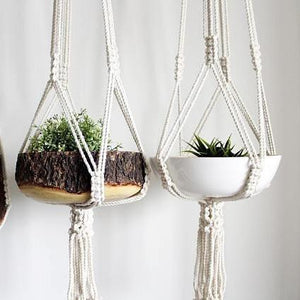 Load image into Gallery viewer, Macrame + Modern Plant Hanger and Plant Holder
