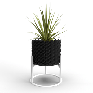 """Welcome Back"" Pineapple Planter: Culture and Bloom; Culture + Bloom: Home, Garden and Art Decor : Black"
