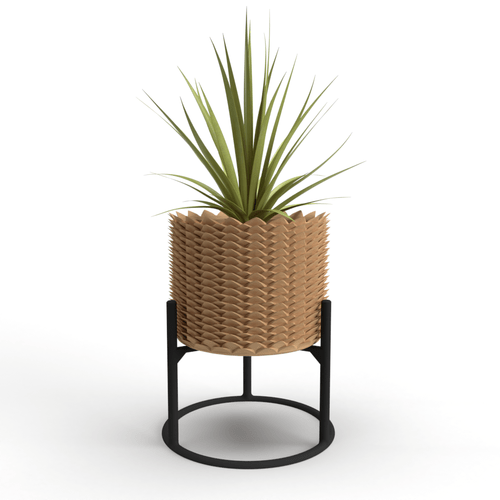 """Welcome Back"" Pineapple Planter: Culture and Bloom; Culture + Bloom: Home, Garden and Art Decor : Brown"