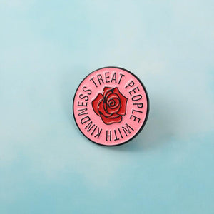 """The Motto"" Treat People With Kindness Lapel Pin"