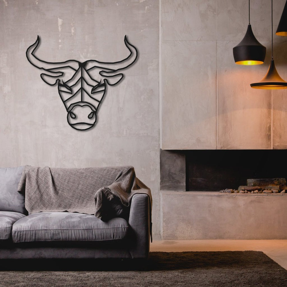 """The Bull"" Hanging Metal Wall Art - Culture+Bloom"