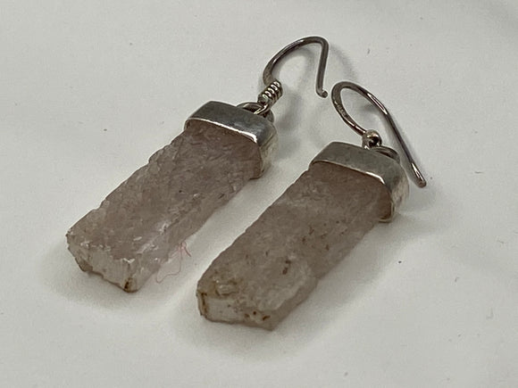 Handmade Kunzite On Silver Earrings