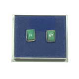 Turquoise on Silver Stud Earrings