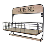Wall Hanging Kitchen Cuisine Storage Unit with Kitchen Roll Holder