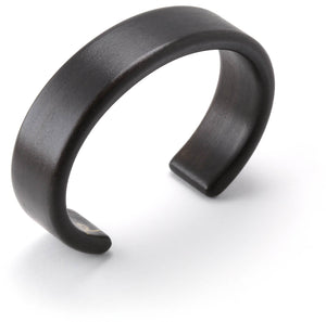 Steam bent ebonized apple wood cuff bracelet.