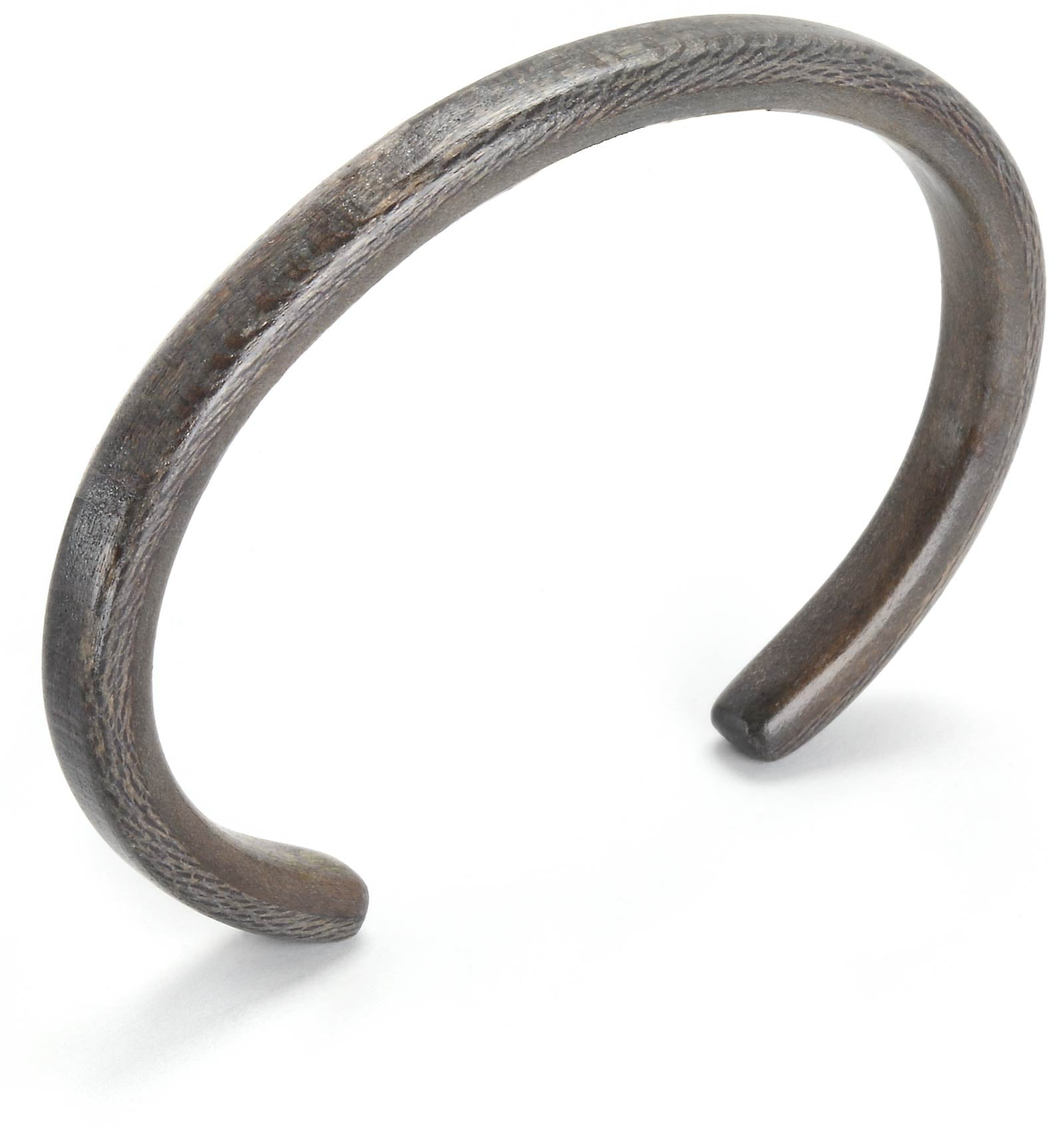 Steam bent thin grey sycamore wood bracelet.