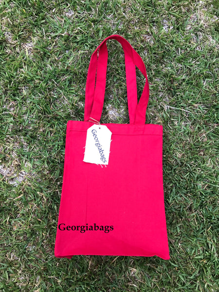Canvas Book Tote Bags by Georgiabags