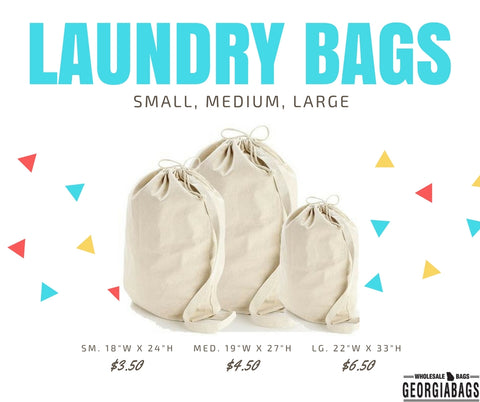 drawstring canvas laundry bags