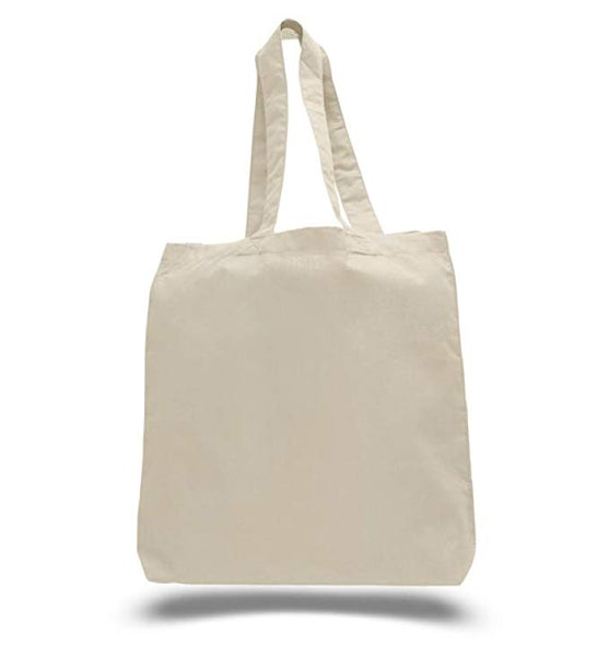 Economical Simple Natural Cotton Tote Bags with Gusset CBG100 (Standard Size) - GeorgiaBags