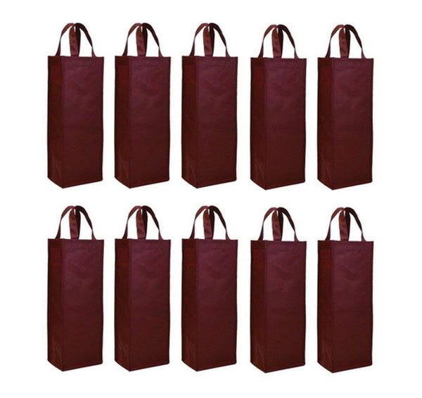 10 Pack Single Bottle Wine Tote Holder Vineyard - GeorgiaBags