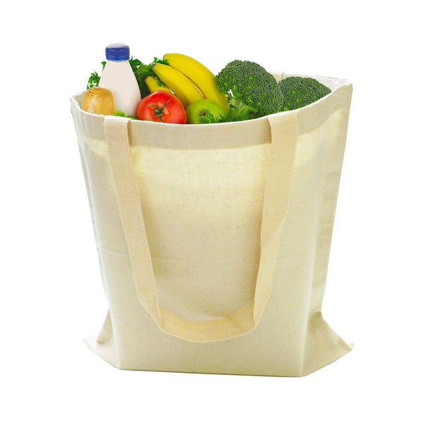 Economical Basic Natural Cotton Tote Bags CB100 (Standard Size) - GeorgiaBags