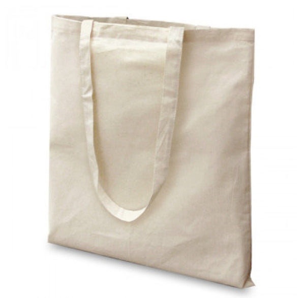 12 Pack Eco Friendly Plain Natural Cotton Washable Tote Bags - GeorgiaBags
