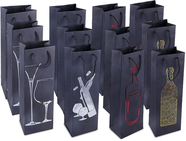 12-Pack Premium Wine Bottle Bags - GeorgiaBags