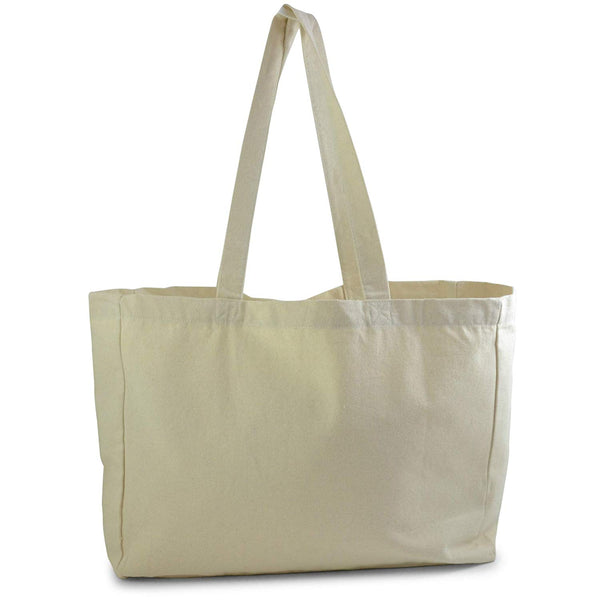 873e555e5 (3 Pack) Natural Canvas Shopping Grocery Tote Bag - GeorgiaBags