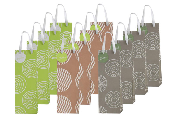 Economy 12 Piece Exclusive Wine Bags, 3 Designs - GeorgiaBags