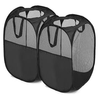 2 Pack Foldable Mesh Hamper with Reinforced Carry Handles - GeorgiaBags