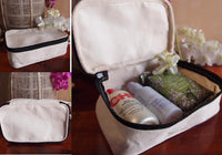 White Color Canvas Travel Kit Bag Dopp Kit - GeorgiaBags