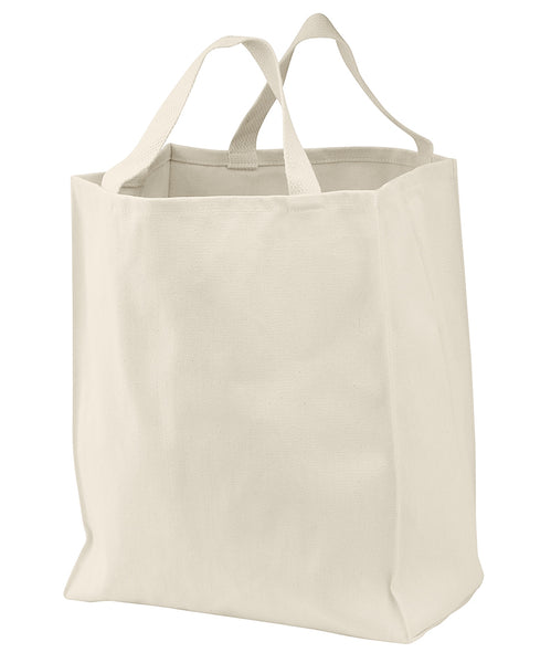 "6 Pack Heavy Duty Canvas Twill Tote Bags, Grocery Totes, 15.5""h x 13""w x 7""d - GeorgiaBags"