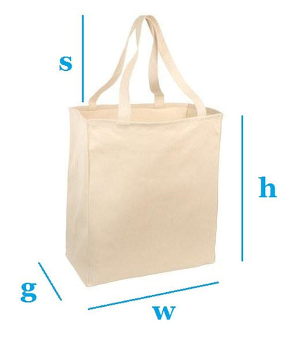 Custom Size Canvas Cotton Tote Bags