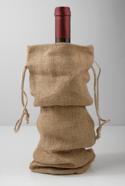 Jute Burlap Wine Bags, 12 Pack - GeorgiaBags