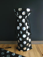 12 PACK- Silver Metallic Dots Wine Bags - GeorgiaBags