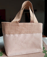 Small Size Jute Cotton Blend Totes - GeorgiaBags