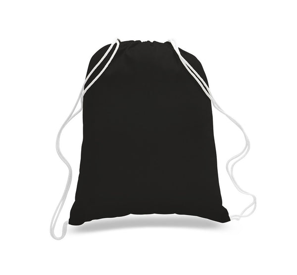 (1 DOZEN) Budget Friendly Sport Cotton Drawstring Backpack - GeorgiaBags