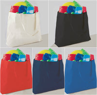 "12 Pack Jumbo Size Canvas Tote Bags, 20""W x 15""H x 5""D - GeorgiaBags"
