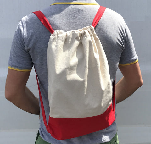 Durable Drawstring Backpack ( Heavy Canvas )
