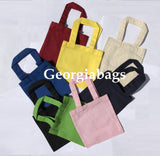 "6"" Mini Size Cotton Tote Bags (12 Pack) - GeorgiaBags"