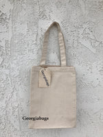 "Medium Size Canvas Book Tote Bags (10""W x 14""H x 5""D) - GeorgiaBags"