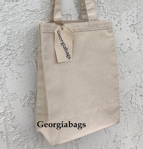 Small Canvas Book Tote Bags by Georgiabags