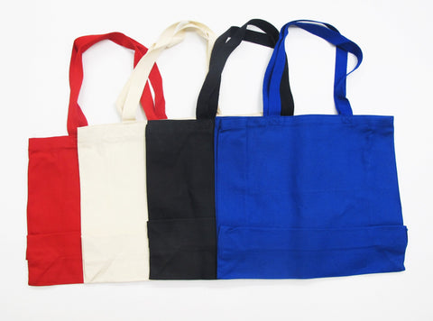 "Durable 15"" Canvas Tote Bags"