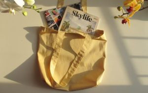 Yellow Color Shopping Tote Bags