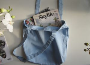 "Deluxe Blue Color Canvas Tote Bags 15""x 16"" by Georgiabags"