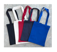 "12 Pack Small Size Plain Canvas Book Bag with Gusset (10""W x 12""H x 3""D) - GeorgiaBags"