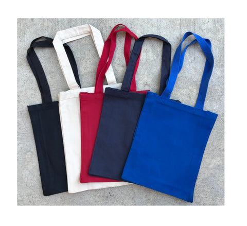 6 Pack Plain Canvas Book Bag with Gusset by Georgiabags