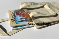 Canvas Book Tote Bags, Easy Bags for Basic Stuff, Custom Screen Printing - GeorgiaBags