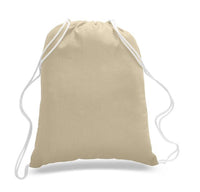 Budget Friendly Sport Cotton Drawstring Backpack, Medium Size - GeorgiaBags