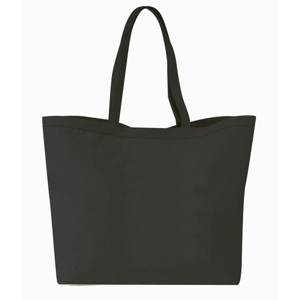 Heavy Canvas Tote Bag with Velcro Closure and Self Fabric Handles - GeorgiaBags