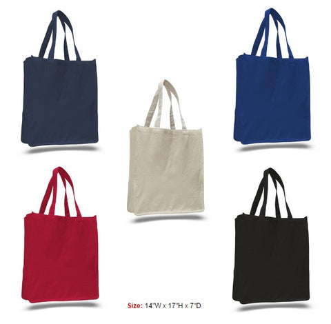 Heavy Canvas Shopper, 12 oz Cotton Canvas Jumbo Size Tote Bag