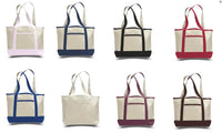 Heavy Canvas Small Deluxe Shopping Tote Bag - GeorgiaBags