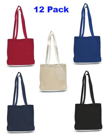 (12 Pack ) Heavy Canvas Large Messenger Bag, Long Straps - GeorgiaBags