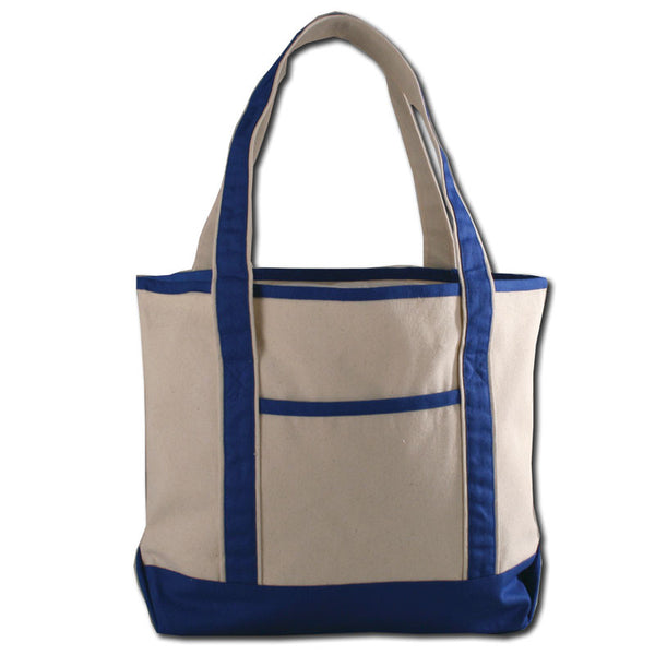 ( 12 Pack ) Deluxe Reusable & Sturdy Large Canvas Tote Bags with Zipper - GeorgiaBags