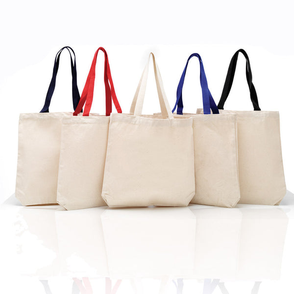 Quality Strong Canvas Tote Bags with Color Handles - GeorgiaBags