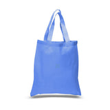 Wholesale Cheap Cotton Canvas Tote Bags Caroline Blue
