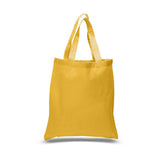 12 Pack Economical Basic Natural Cotton Tote Bags with Bottom Gusset CBG100 (Standard Size) - GeorgiaBags