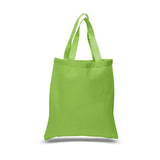 Wholesale Cheap Cotton Canvas Tote Bags Lime