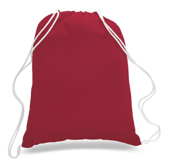 Budget Friendly Sport Cotton Drawstring Backpack, Small Size - GeorgiaBags